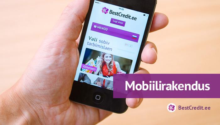 BestCredit.ee mugav mobiilirakendus